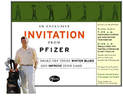 Pfizer Golf Invitation